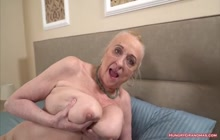 Busty Granny Enjoys a Big Hard Cock Into Her Pussy