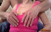Cock loving horny granny getting fucked hard