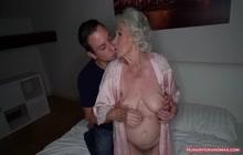 Granny with gigantic boobs fucked hard