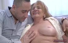 Fucking a sexy busty cock loving granny hard