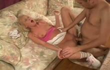 Babysitter Hillary Scott gets anal fucked